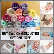 Girl Boy Newborn Quality Cheesecloth Wrap Baby Newborn Photography Photo Prop