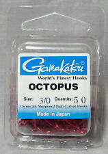 Gamakatsu Octopus Red 3/0 Chemically Sharpened Hooks - *Qty 50* Saltwater