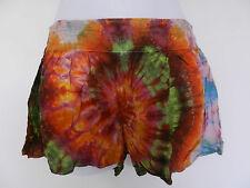Womens tie dye summer Shorts festival ethnic boho hippy hippie XS