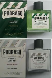 Proraso Aftershave | GREEN Toning Lotion | WHITE Balm | 100 ml