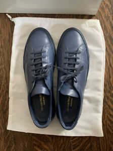 Common Projects Achilles Leather Low Top Sneaker Navy Blue 1528 44 3875 11D