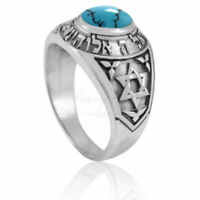 Sterling Silver Shema Israel Star of David Jewish Hebrew Hear O ring Hebrew