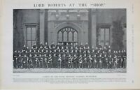 1901 Imprimé Cadets De The Royal Militaire Académie Woolwich Lord Roberts