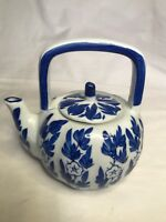 Vintage Blue and White tea pot. Made in China.