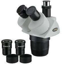 AmScope 10X-30X Super Widefield Stereo Trinocular Microscope Head