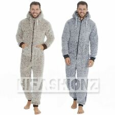 MENS SNUGGLE FLEECE ONEZEE SUPER SOFT HOODED JUMPSUIT 1Onezsie