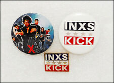 INXS Lot Of 2 80's 90's Buttons Badges & Kick Pin