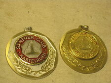 2 x vintage SANTNER CLUB KASTELRUTH medals medal medallion metal award Germany