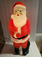 """Vintage Lighted Blow Mold SANTA CLAUS 22"""" Union Products USA made"""