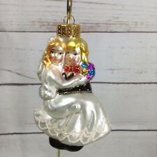 Just Married Ornament Newlyweds Glass