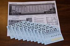 Norfolk Southern Class G116, G117, G118 Hopper DECALS HO170 10 Set Painter Pack