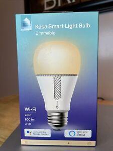 TP-Link Kasa KL110 A19 Smart Light Bulb, 60W LED Dimmable White 1-Pack