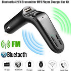 Car FM Transmitter Bluetooth Hands-free LCD MP3 Player Radio Adapter Kit Charger