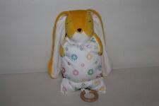 BRIO Hase Rabbit gelb Kissen Spieluhr Stofftier 25cm RAR TOP