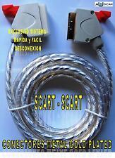 CABLE SCART-SCART 3m. VP-1003 CONECTORES METAL DORADOS