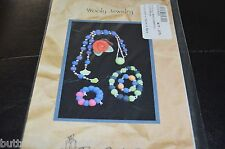 Wooly Jewelry Felted  Knitting Pattern Two Old Bags