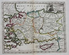 Original antique map TURKEY CYPRUS 'CHERSONESI QUAE HODIE NATOLIA' Cluver c.1697