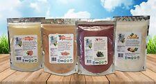 ACAI+GUARANA+CUPUACU+ACEROLA Powder 4 lb (1lb each) 100% Natural Paradise Powder