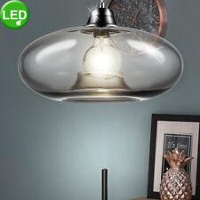 LED Plafond Suspendu Lampe Verre Fumé Ovale Ess Éclairage de Table Lampe Lumière