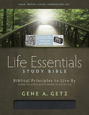 USED (LN) Life Essentials Study Bible, Black Bonded Leather Indexed