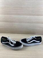 VANS Old Skool Black Canvas/Suede Lace Up Low Top Shoes Mens Size 7  Women's 8.5