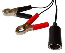 Prise fiche allume-cigare femelle avec pinces pour alimentation batterie 5V-12V