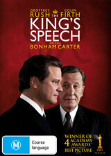 THE KING'S SPEECH New Dvd COLIN FIRTH GEOFFREY RUSH ***