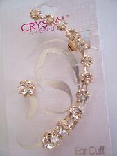 ALL Rhinestone Ear Cuff!.....Gold Tone Backing...........So Pretty!