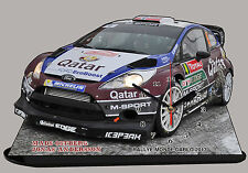 MINIATURE, OSTBERG, MODEL CARS FORD FIESTA WRC, MONTE CARLO 2013 en horloge
