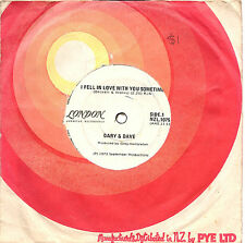 "GARY & DAVE - I FELL IN LOVE WITH YOU SOMETIME - NZ PRESSING 7"" 45 RECORD 1973"