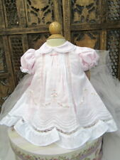 NWTBeutiful Will'Beth Pink Embroidery and Lace Insert Dress Newborn Reborn