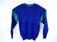 VTG Gap Men's Blue Green Color Block Knit Sweater Size Medium