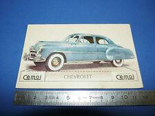 CHROMO 1950-1959 CHOCOLAT CEMOI DECOUPAGE AUTOMOBILE AUTO CHEVROLET