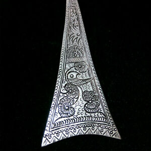 Hair Accessories tribal exotic chinese hand-carved miao silver hairpin 1piece