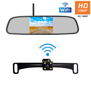 "12V 4.3"" Wireless Video Player Backup Camera Car Rear View Parking System Set"
