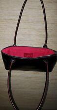 HOBO INTERNATIONAL Structured Black Glazed Leather Small Shoulder Bag