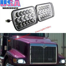 2PCS LED Headlights For International IHC Headlight Assembly 9200 9400i 9900