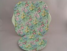 SHELLEY MELODY CAKE AND SIDE PLATE, FULL PATTERN.
