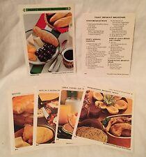 Vintage 1971 Betty Crocker Recipe Card Library Section - Family Breakfast Bright