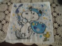 Vintage Snoopy Artist Handkerchief Blues
