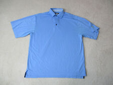 Footjoy Golf Polo Shirt Adult Large Light Blue Lightweight Golfer Rugby Mens *