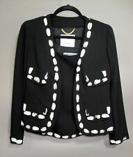 Moschino Couture Black & White Handprint Suit Size 40; US 6