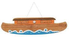 EverEarth EE33331 Bamboo Noah's Ark Name Plaque for Children's Bedroom NEW