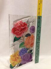 Fringe Studio Glass Vase Rose Bouquet Mattie Vase/Bird Image Other Side