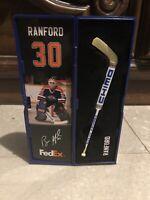 Bill Ranford Edmonton Oilers Mini Stick Signed Collectable