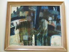 VINTAGE MYSTERY CUBIST PAINTING CUBISM 1950'S ABSTRACT MODERNISM EXPRESSIONISM