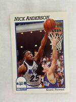 Nick Anderson Orlando Magic 1991 NBA Hoops Basketball Card 147