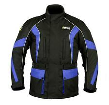 Mens CE Armoured Waterproof Motorbike Jacket Cordura Quilted Reflective Warm M
