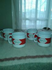 Set of Four McIlhenny Tabasco Hot Pepper Sauce Red Logo Coffee/Tea/Soup/Cup Mug