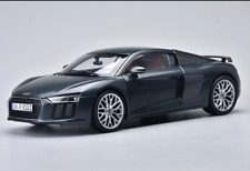 Kyosho 1/18 Alloy car model Black/blue audi R8 V10 Plus Couper Gift collection